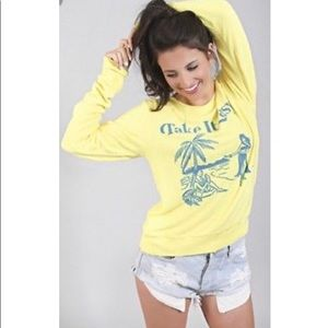 "Wildfox ""Take It Easy"" Sweatshirt Size S NWOT"